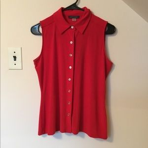 Tommy Hilfiger Red Sleeveless Top Size Small👚